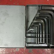 Larger metric hex wrench (by Allen Co.) set