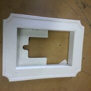 White Recessed Electrical Box Scalloped Siding Block