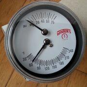 "Winter's Tridicator 30-240F, 0-75psi, 2-1/2"" dial"