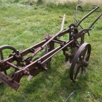 Horse pulled gang plow
