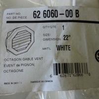 """22"""" Octagonal Gable Vent, white"""