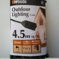 New 4.5m (14.7 ft) Outdoor extension cord